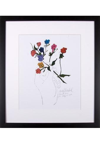 G&C Kunstdruck »Bunter Blütenstiel«, 33/43, gerahmt kaufen
