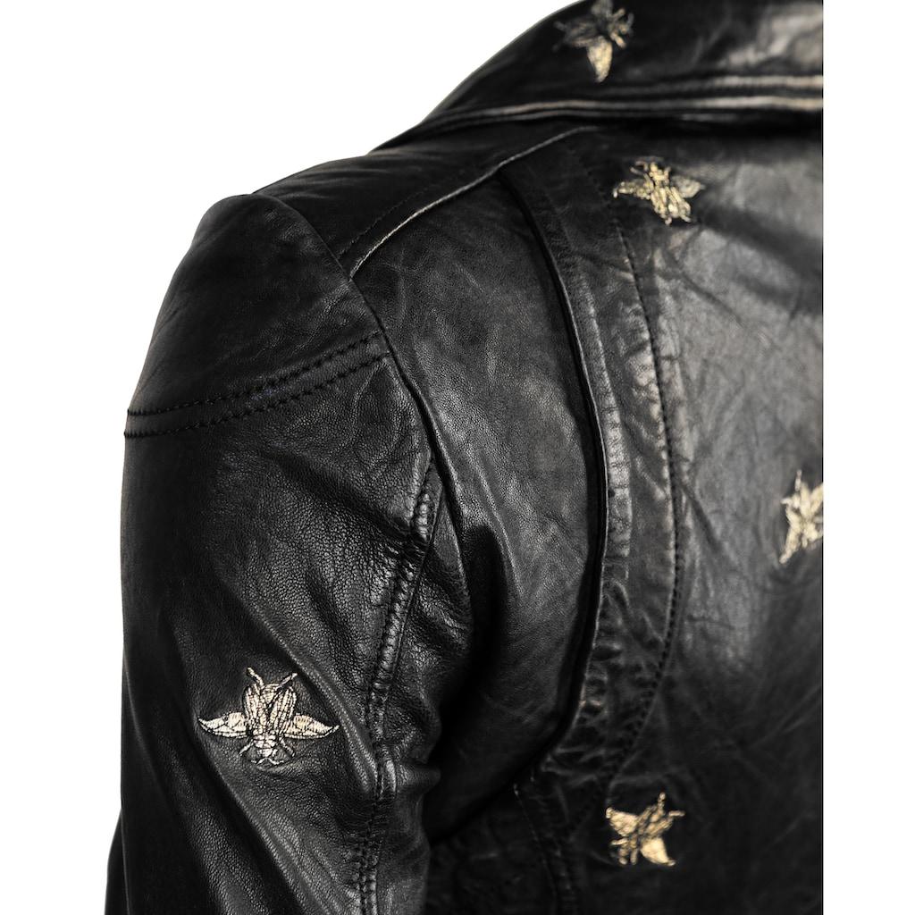 Maze Eyecatcher Biker Jacke mit schönen Stickereien