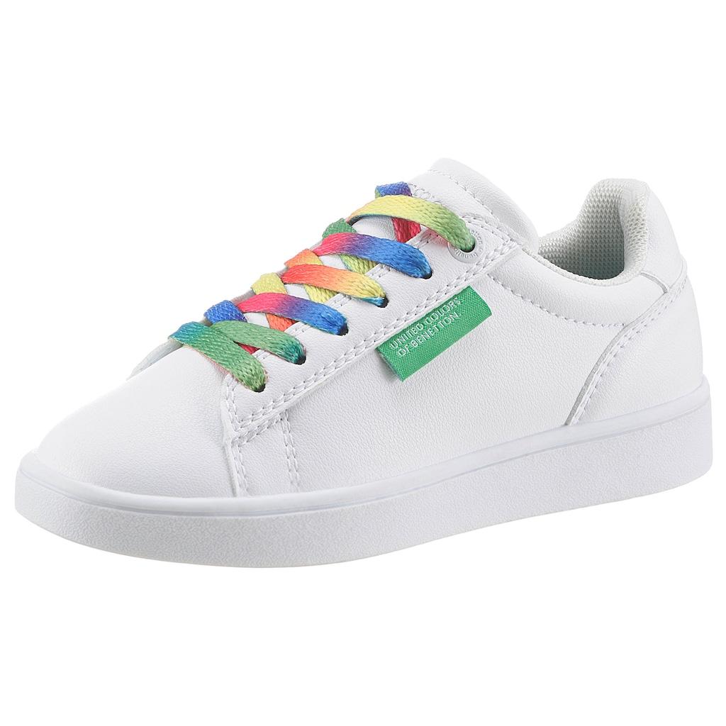 United Colors of Benetton Sneaker »MULTICOLOR LACES«, mit bunten Schnürsenkeln