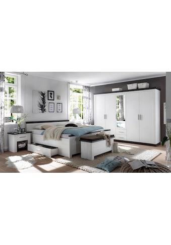 Home affaire Schlafzimmer-Set »Siena«, (Set, 4 St.), 5trg. Kleiderschrank, Bett 180... kaufen