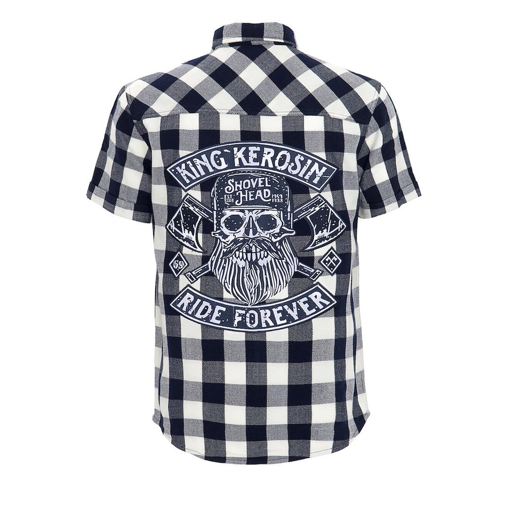 KingKerosin Kurzarmhemd »Ride Forever«, mit großer Rückenapplikation