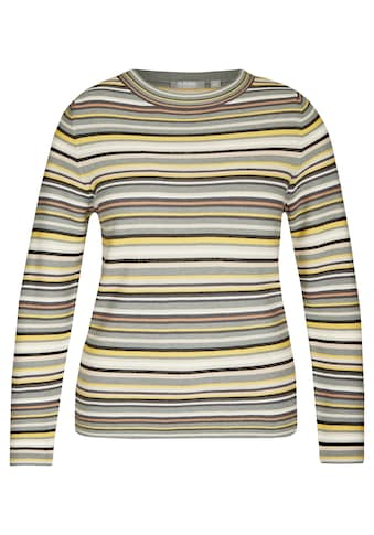 Rabe Rundhalspullover, mit Streifen-Muster und langen Ärmeln kaufen