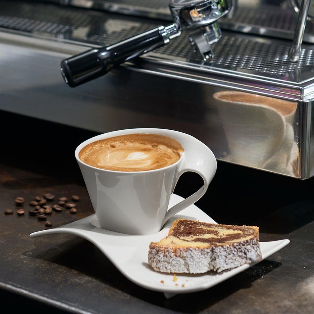 Villeroy & Boch Cappuccinotasse »NewWave Caffè Cappuccino-Set«, (Set, 8 tlg.), 4 Cappuccinotassen, 4 Partyplatten