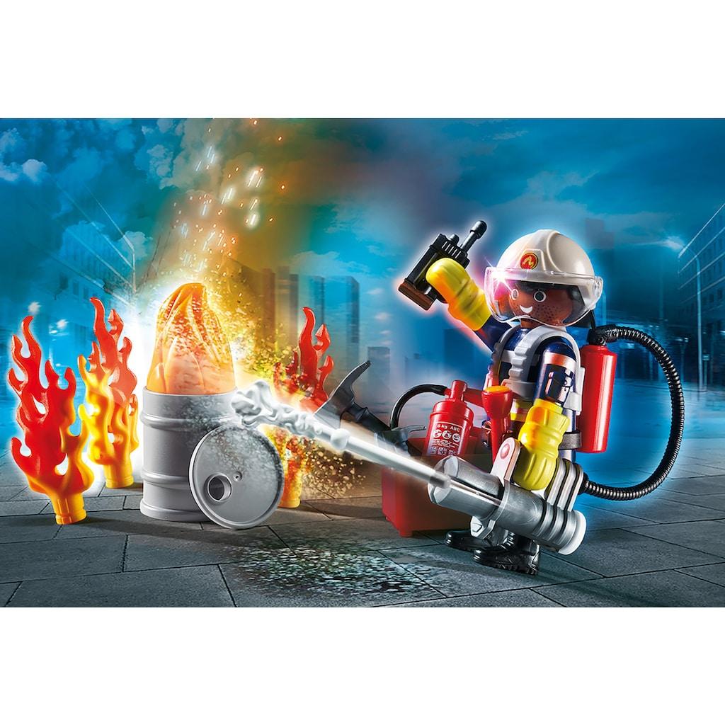Playmobil® Konstruktions-Spielset »Straßenreiniger (70249), Special Plus und Geschenkset Feuerwehr (70291), City Action«, (Set, 2 St.), Made in Europe
