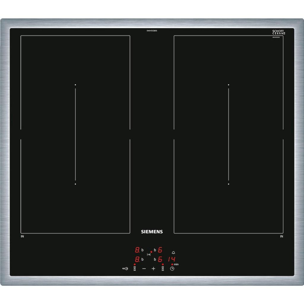 SIEMENS Flex-Induktions-Herd-Set »EQ521DB0ZM«, iQ500, HE517BBS1, mit Backwagen, Kindersicherung