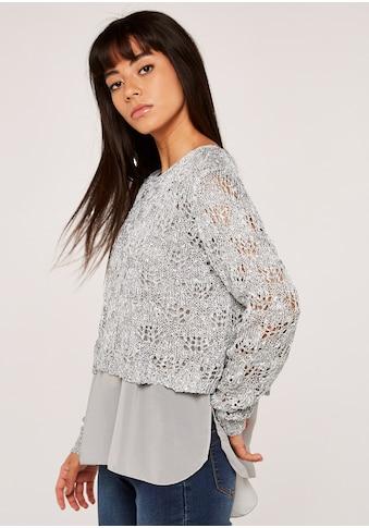 Apricot Strickpullover »Sequin Knit Chiffon Underlay Top« kaufen