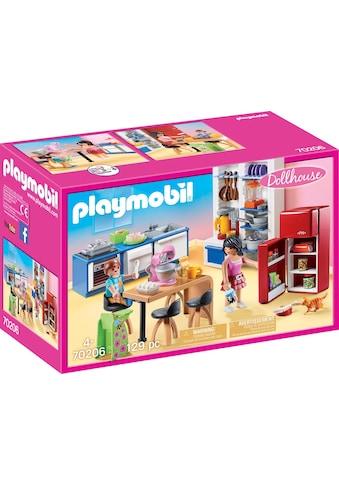 Playmobil® Konstruktions-Spielset »Familienküche (70206), Dollhouse«, (129 St.), Made... kaufen