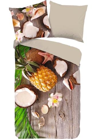 good morning Wendebettwäsche »Coconut«, mit Kokosnuss und Ananas bedruckt kaufen