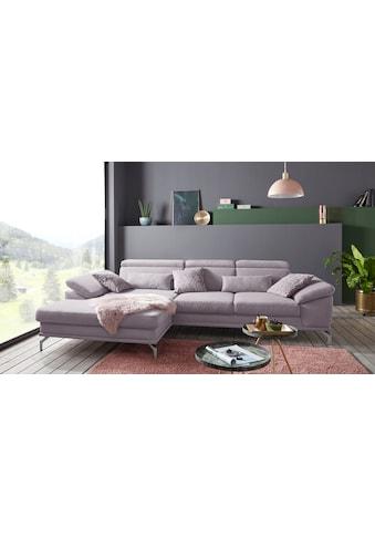 sit&more Ecksofa, inklusive Sitztiefenverstellung, wahlweise mit Kopf- und... kaufen