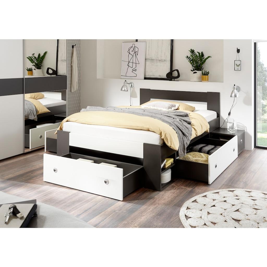 Schlafkontor Bett »Linz«, mit ausziebaren Nachttischen und Schubkästen