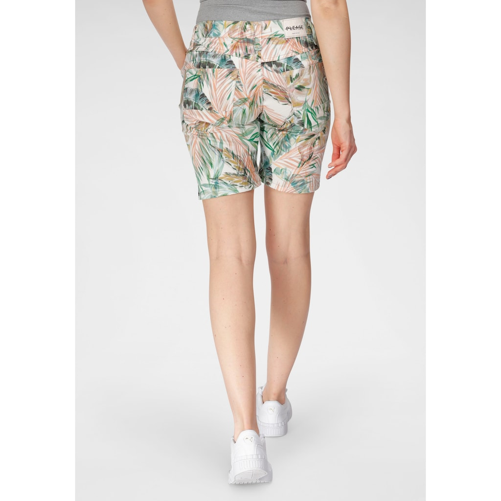 Please Jeans Jeansshorts »P 88A«, mit Dschungel Allover - Print