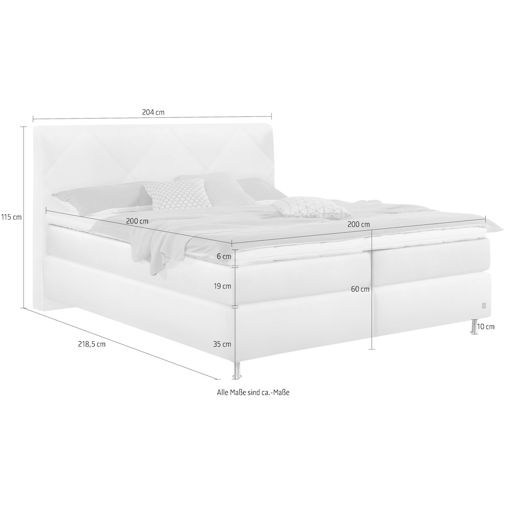 ADA premium Boxspringbett »Relax Plus«, inklusive Matratze und Topper
