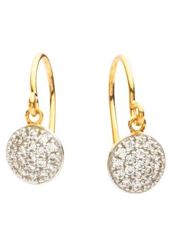 NANA KAY Paar Ohrhaken »Gold, FG092«, mit Zirkonia (synth.) kaufen