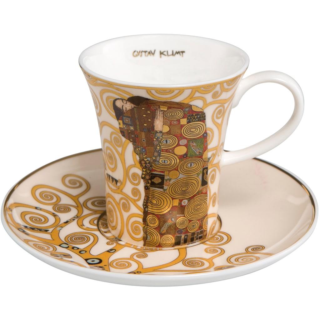 Goebel Espressotasse »Die Erfüllung«, von Gustav Klimt