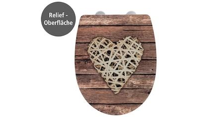 WENKO WC - Sitz »Curly Heart mit Relief« kaufen