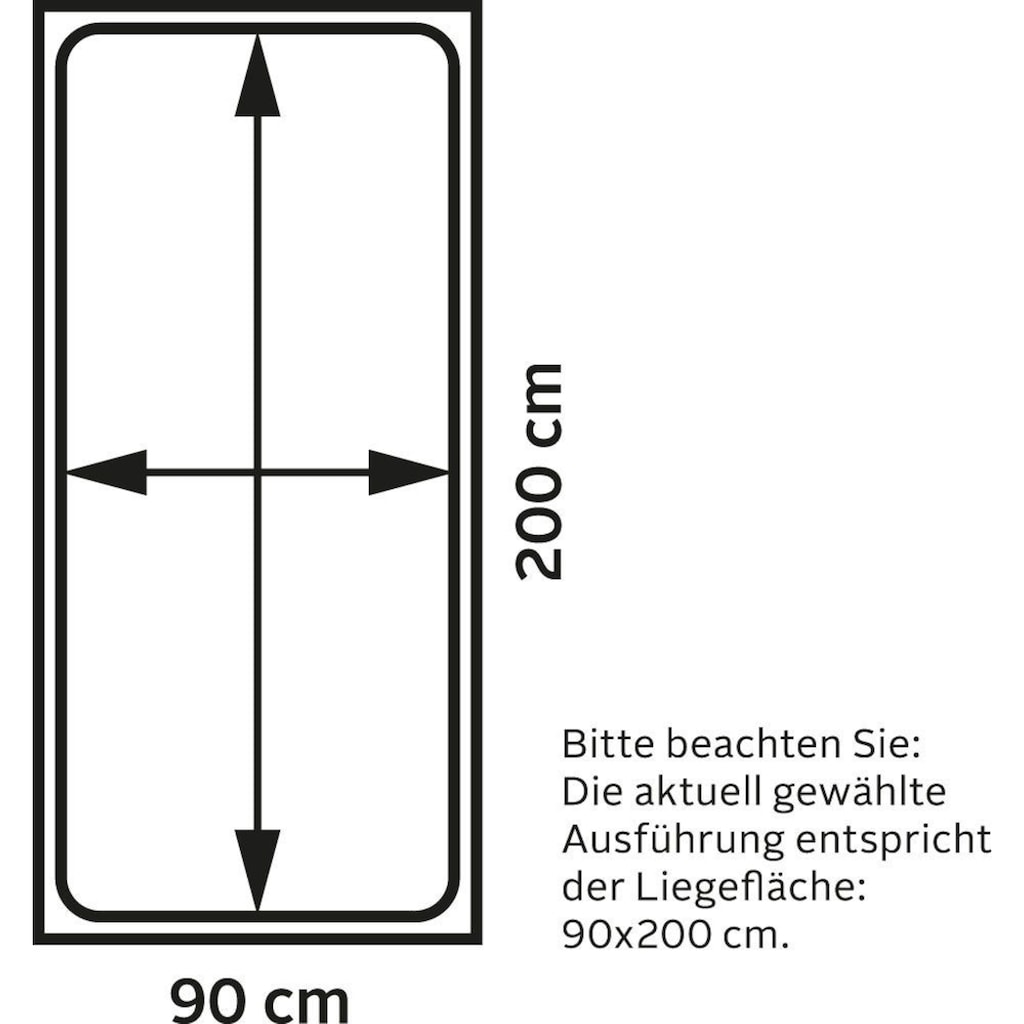 Westfalia Schlafkomfort Boxspringbett, in diversen Ausführungen