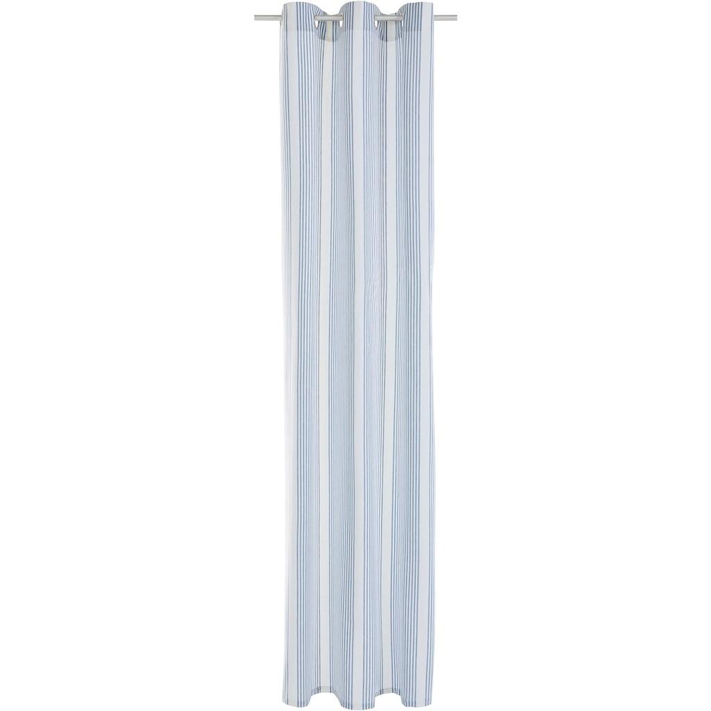 elbgestoeber Gardine »Elbstreifen«, Baumwolle, Streifen Optik, blickdicht, klassisch, Landhausstil, bis 295 cm Länge