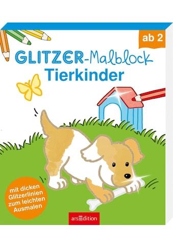 Buch Glitzer - Malblock Tierkinder / Corina Beurenmeister kaufen