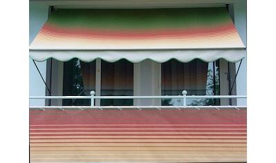 Angerer Freizeitmöbel Balkonsichtschutz »Nr. 1800«, Meterware, grün/rot/gelb, H: 75 cm kaufen