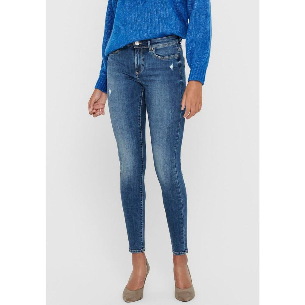Only Skinny-fit-Jeans »ONLWAUW«, mit leichten Destroyed Effekten