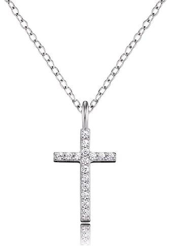 Engelsrufer Kreuzkette »Glaubensfeste, ENGELSRUFER KREUZ, ERN-LILCROSS-ZI«, mit Zirkonia kaufen