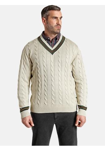 Charles Colby V-Ausschnitt-Pullover »DUKE RONALD«, klassisches Zopfmuster kaufen