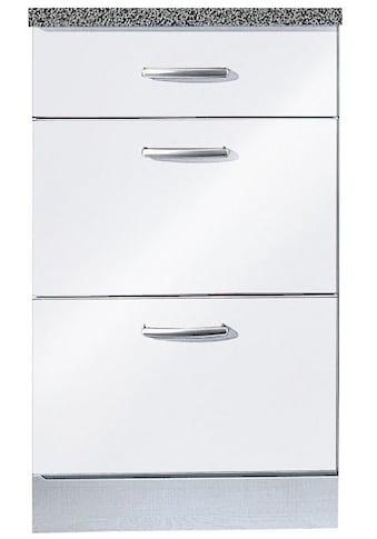 wiho Küchen Unterschrank »Amrum«, 50 cm breit, mit 2 großen Auszügen kaufen