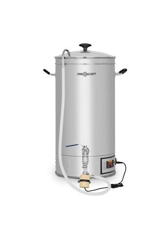 ONECONCEPT Maischekessel 30 Liter 30-140°C Umwälzpumpe Edelstahl kaufen