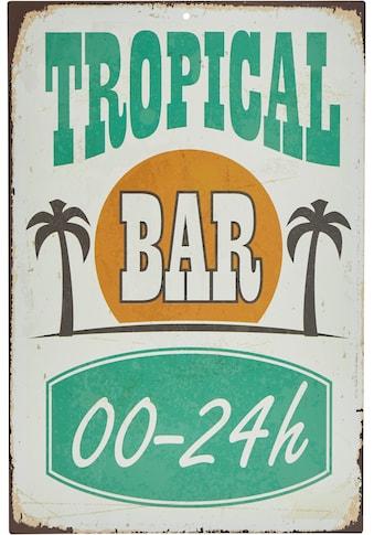 Home affaire Metallschild »Tropical Bar«, Maße (B/H): ca. 30/45 cm kaufen