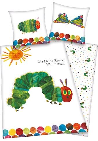 Kinderbettwäsche »Die kleine Raupe Nimmersatt«, mit niedlichem Motive kaufen