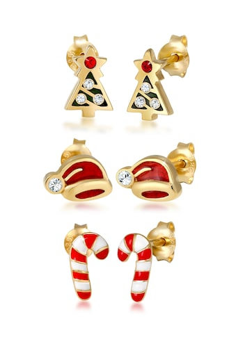 Elli Ohrring-Set »X-mas 3er Set Kristalle Süß 925 Silber« kaufen