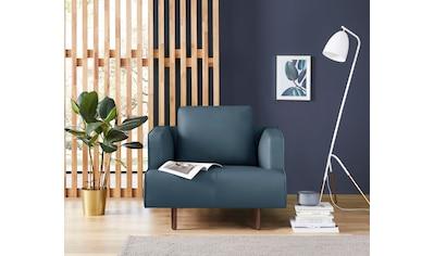 hülsta sofa Sessel »hs.440«, wahlweise in Stoff oder Leder, Fuß Nussbaum kaufen