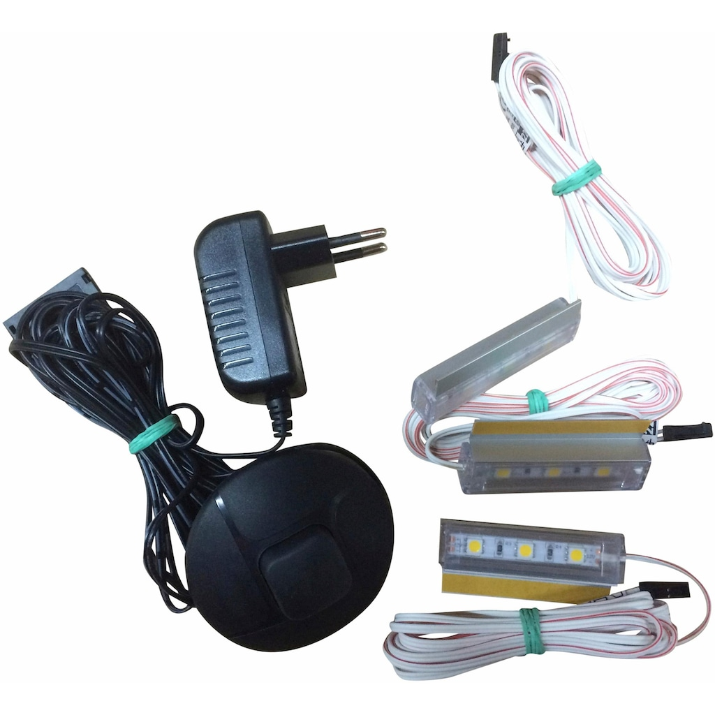 trendteam LED Schrankinnenraumbeleuchtung, LED-Board, 3 St., Warmweiß