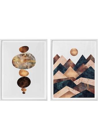 Wall-Art Poster »Fredriksson - Harmonie«, (Set), mit Rahmen, Poster, Wandbild, Bild,... kaufen