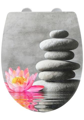 WENKO WC-Sitz »Water Lily mit Relief«, Thermoplast kaufen