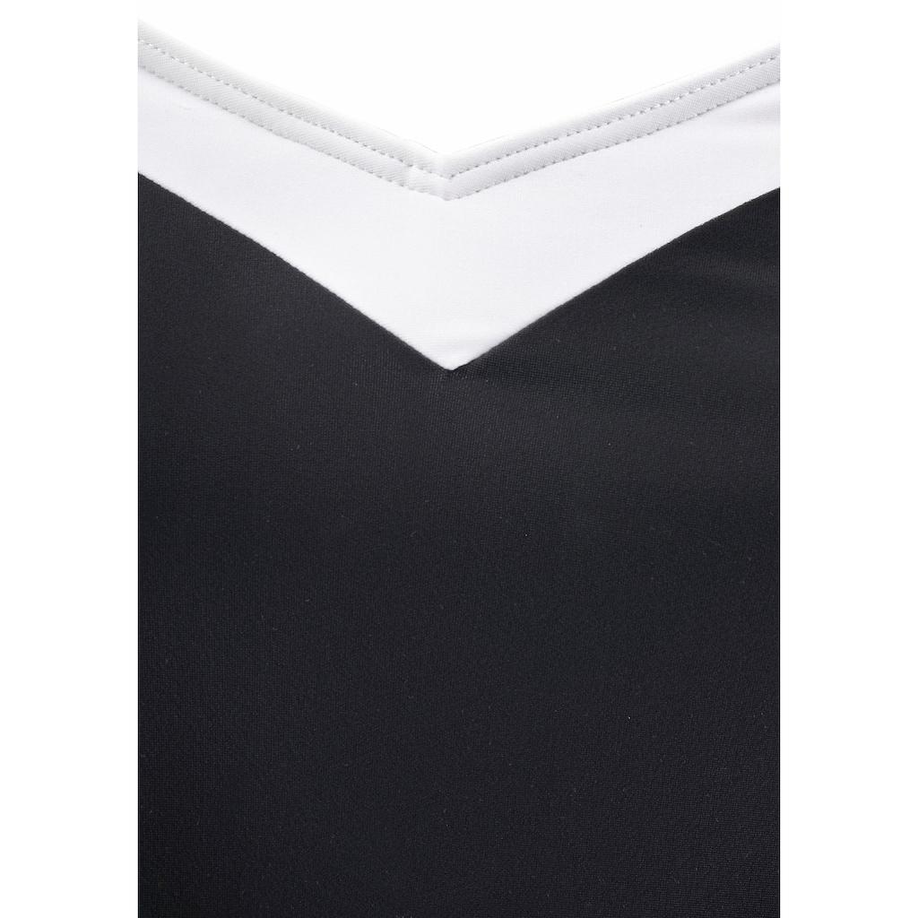 LASCANA Badekleid, mit Kontrasteinsätzen und Shaping-Effekt