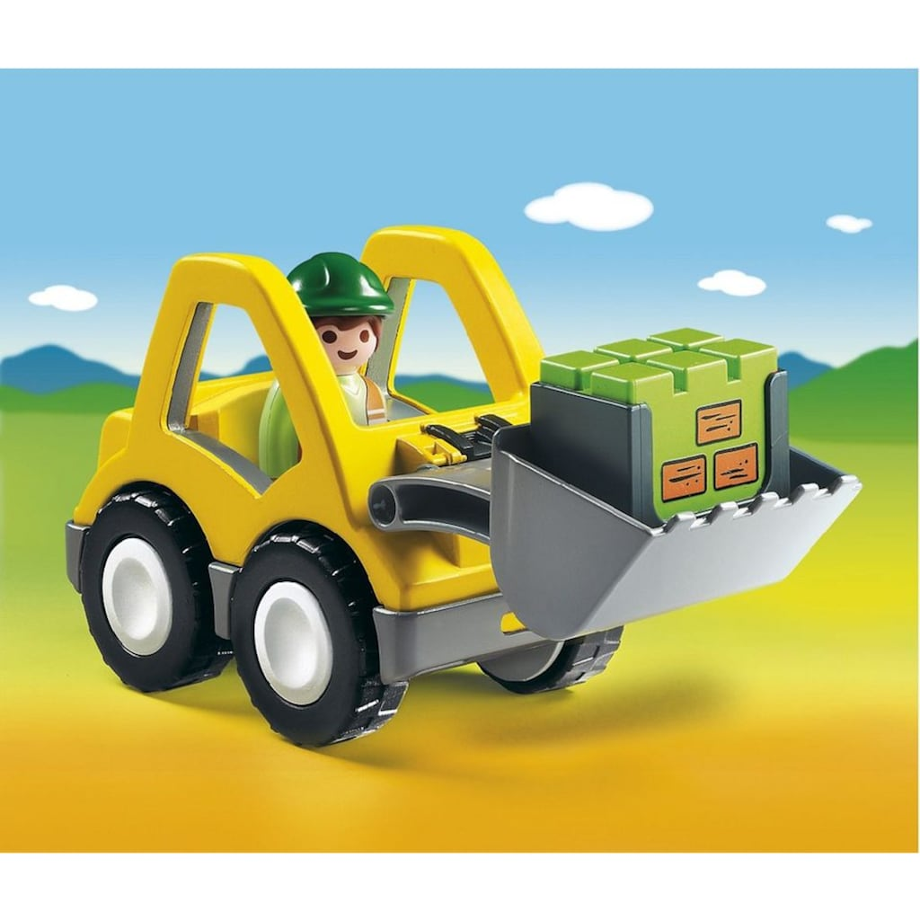 Playmobil® Konstruktions-Spielset »Radlader (6775), Playmobil 1-2-3«, Made in Europe