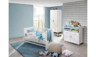 Babyzimmer-Komplettset »Potsdam«, (Set, 3 tlg.), Bett + Wickelkommode + 2 trg. Schrank kaufen