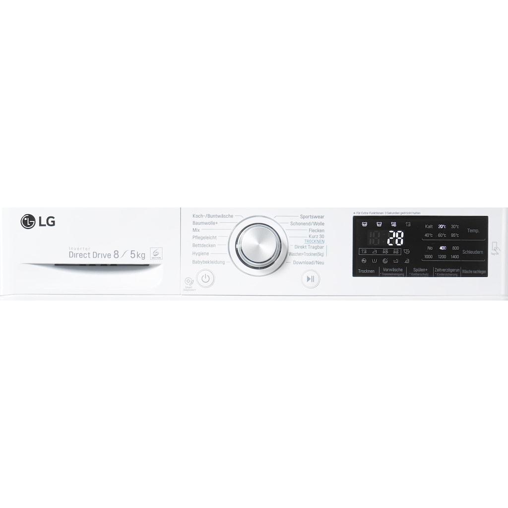 LG Waschtrockner »F14WD85TN1«, Serie 5, 52 dB