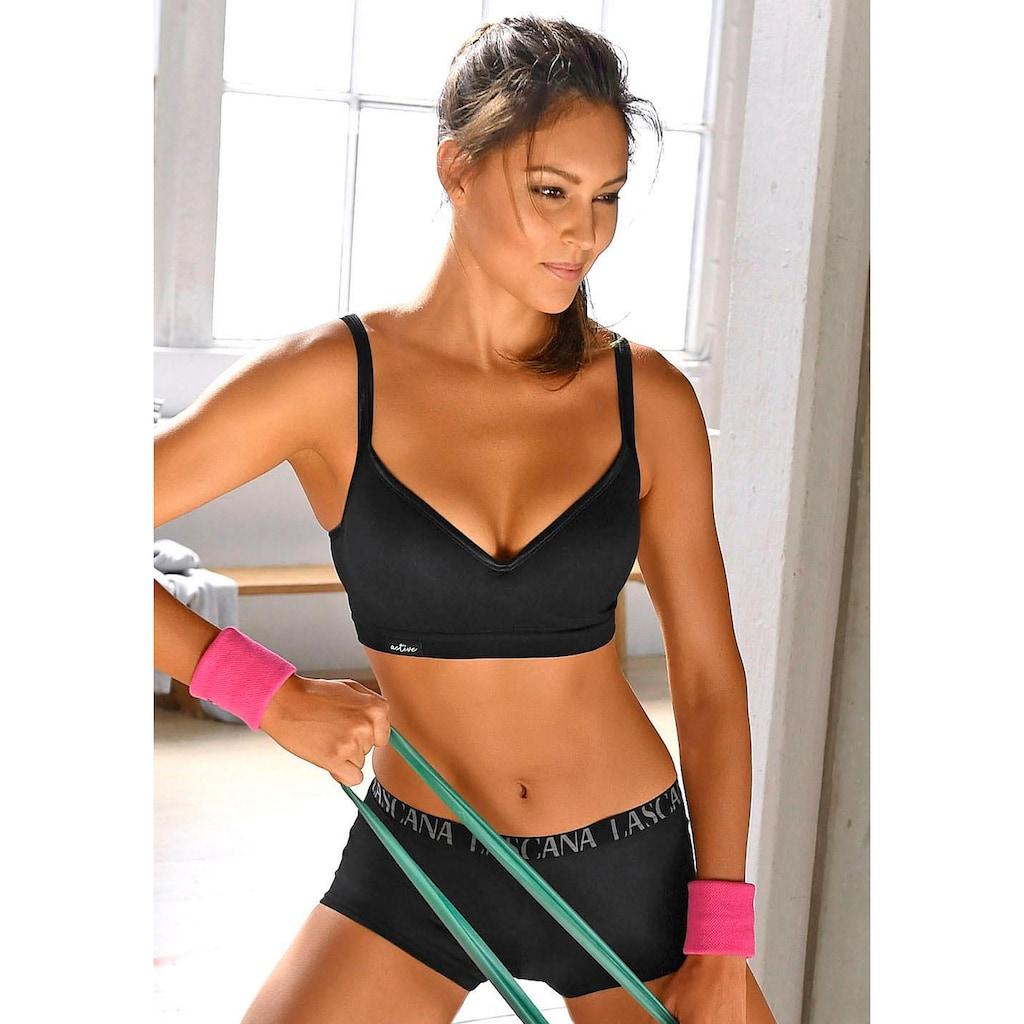 LASCANA ACTIVE Sport-Push-up-BH, mit Bügel und eingearbeiteten Push-up-Kissen
