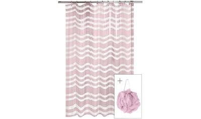 SEE∙MANN∙GARN Duschvorhang »Lina«, Breite 180 cm, (Packung), Höhe 200 cm kaufen