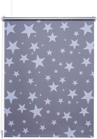 Liedeco Seitenzugrollo »Druck Sterne«, verdunkelnd, energiesparend, ohne Bohren,... kaufen