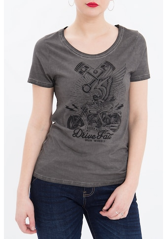 QueenKerosin Print-Shirt »Drive Fast«, im Used Look mit Frontdruck kaufen