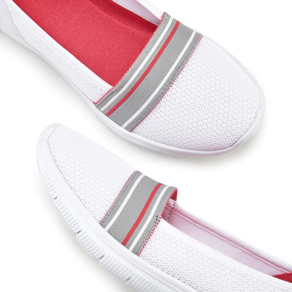 """LASCANA Slipper, """"Slip On"""" federleichter Sneaker aus Mesh Material"""