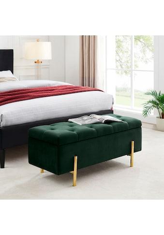 Leonique Bettbank »Aubrey«, Sitzfläche gesteppt, mit Strauraum kaufen