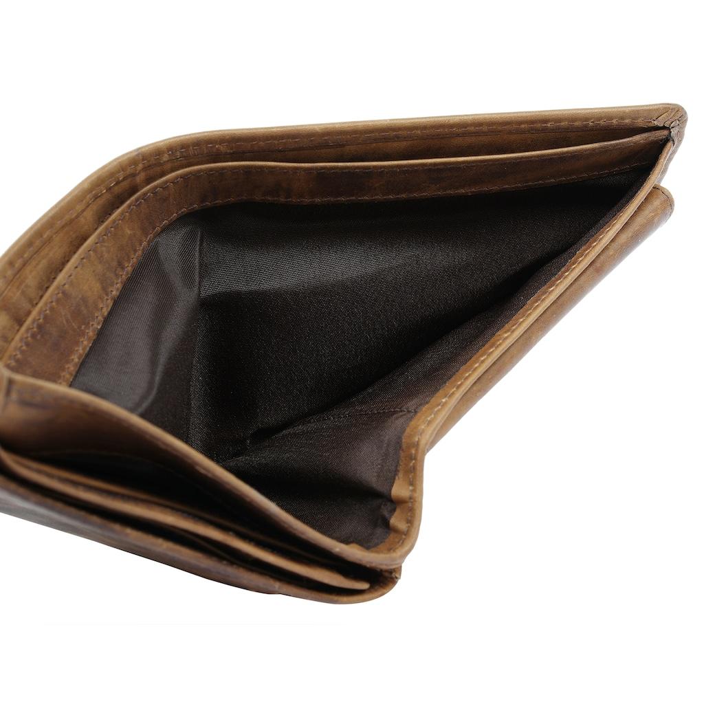 Landleder Geldbörse, 3fach klappbar