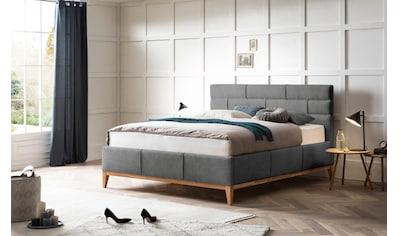 Leonique Polsterbett »Balaine«, mit Lattenrost, Bettkasten, auch mit 7-Zonen-Taschenfederkernmatratze kaufen