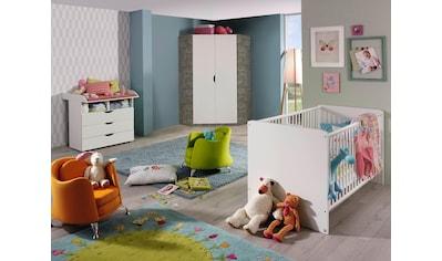 Babyzimmer-Komplettset »Bristol«, (Spar-Set, 3 tlg.), Bett + Wickelkommode + Eckschrank kaufen