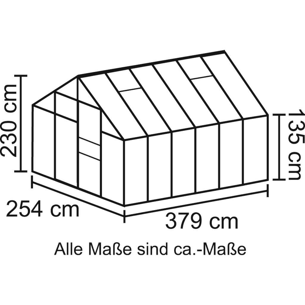 Vitavia Gewächshaus »Merkur 9900«, (Set, mit. Fundamentrahmen)