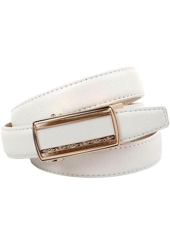 Anthoni Crown Ledergürtel, Traumhafter Automatik Gürtel in weiß kaufen